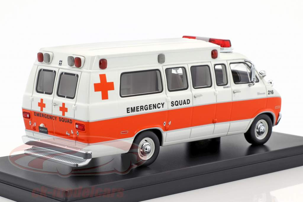 Dodge Horton Ambulance year 1973 white / orange 1:43 Neo