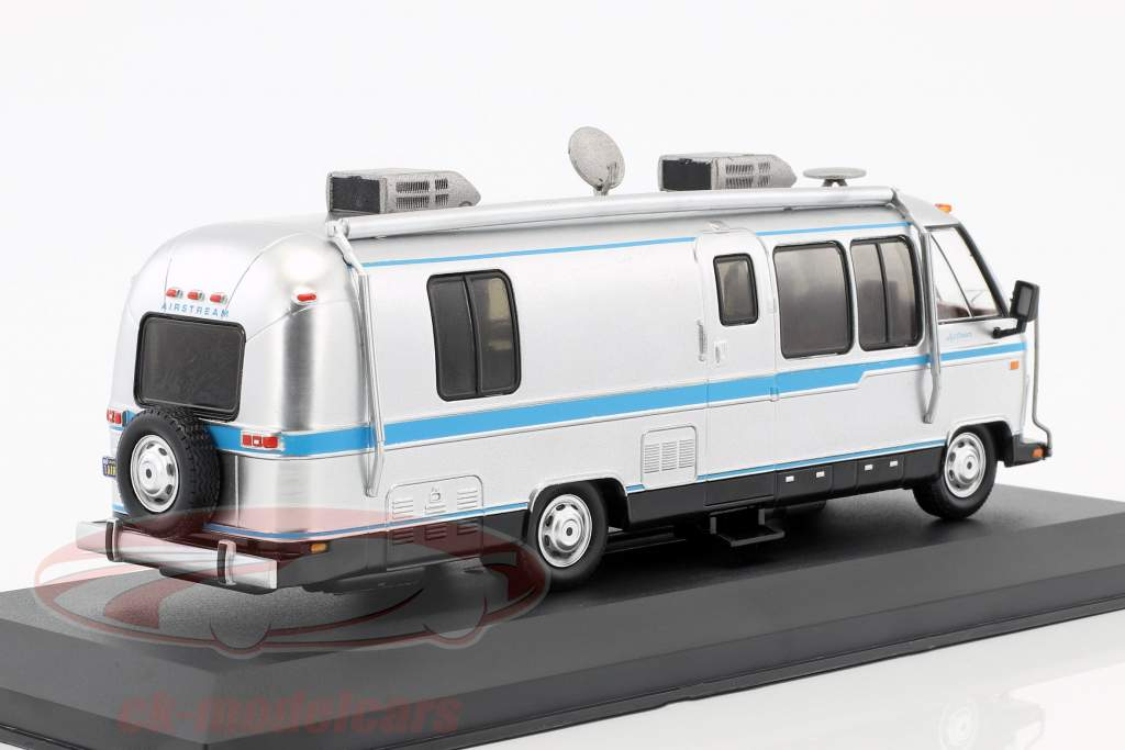Airstream Excella 280 turbo year 1981 silver / light Blue 1:43 Ixo