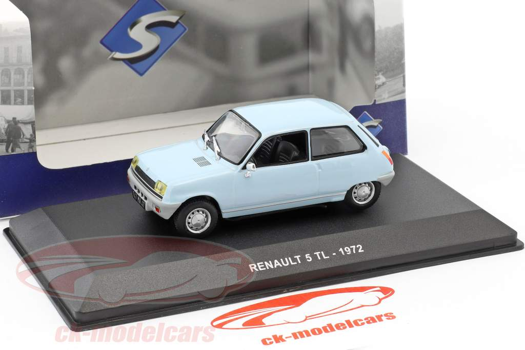 Renault 5 TL year 1972 light blue 1:43 Solido