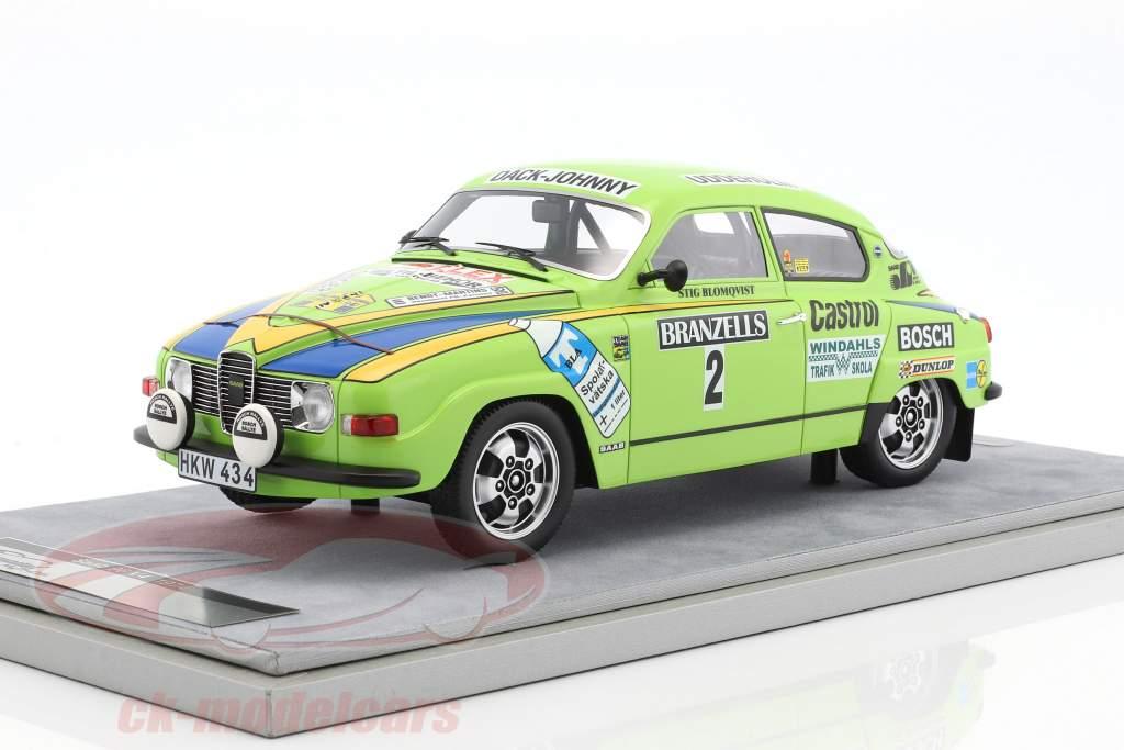 Saab 96 V4 #2 2nd Rally Sweden 1976 Blomqvist, Sylvan 1:18 Tecnomodel