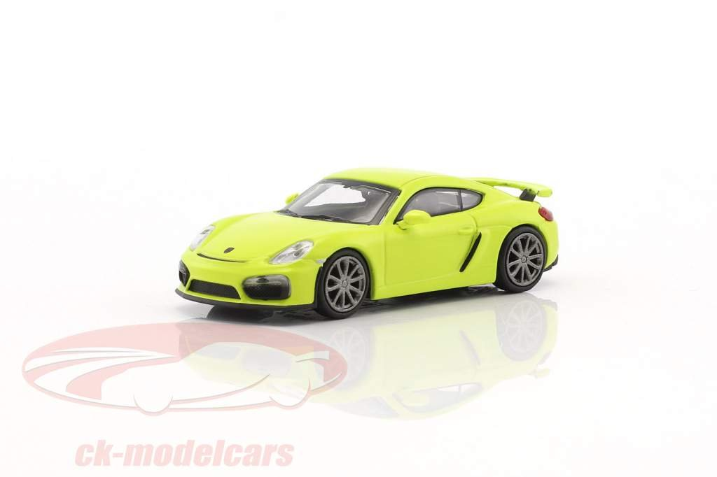 Porsche Cayman GT4 year 2016 green 1:87 Minichamps
