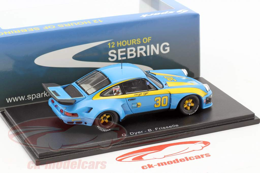 Porsche 911 Carrera RSR #30 vincitore 12h Sebring 1977 Dyer, Frisselle 1:43 Spark