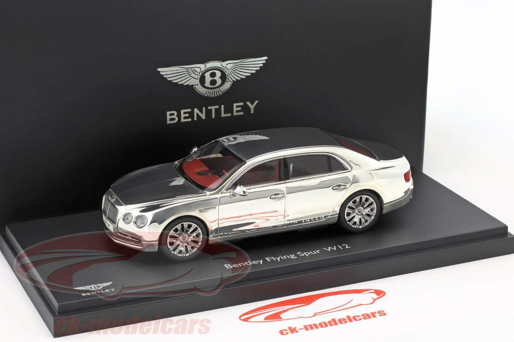 Bentley Flying Spur W12 silver plated 1:43 Kyosho