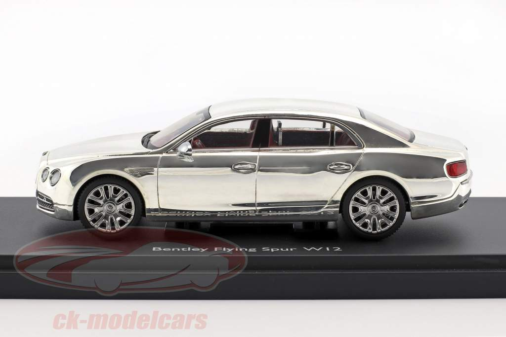 Bentley Flying Spur W12 argento plated 1:43 Kyosho