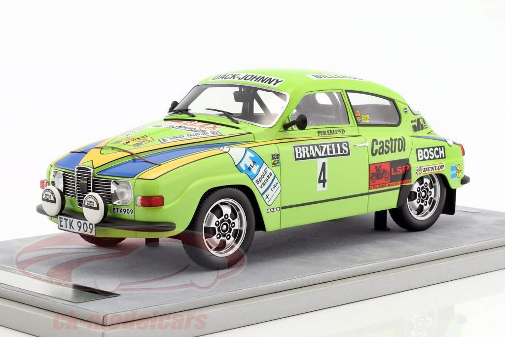 Saab 96 V4 #4 gagnant Rallye Suède 1976 Eklund, Cederberg 1:18 Tecnomodel