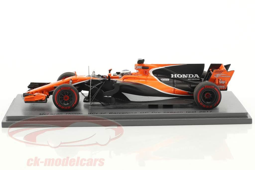 Fernando Alonso McLaren MCL32 #14 Pre-Season Test Barcelona Formel 1 2017 1:43 Spark