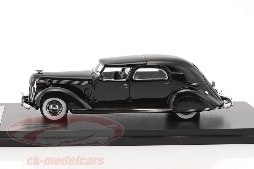 Chrysler Imperial C-15 Le Baron Town Car année 1937 noir 1:43 Neo