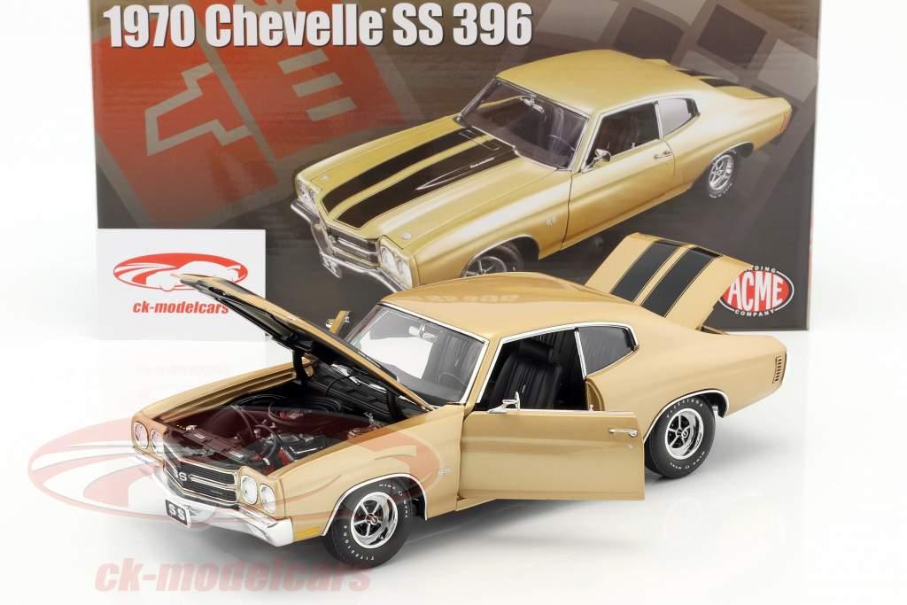 Chevrolet Chevelle SS 396 année de construction 1970 désert sable / noir 1:18 GMP