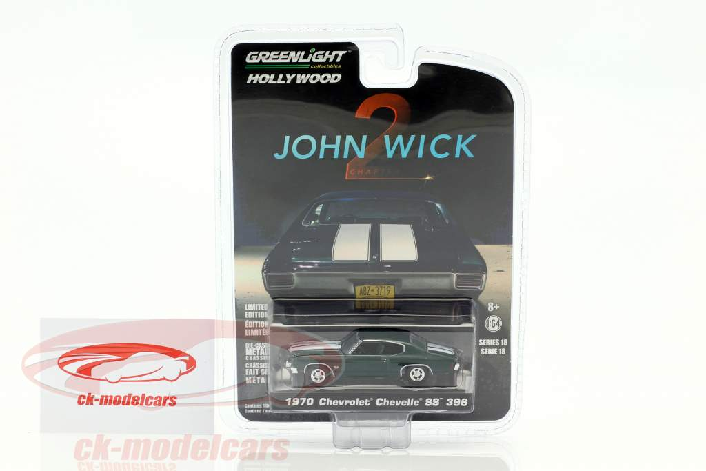 Chevrolet Chevelle SS 396 anno di costruzione 1970 film John Wick Chapter 2 (2017) 1:64 Greenlight