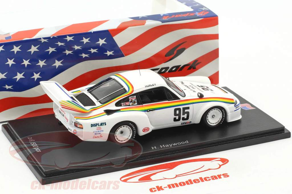 Porsche 934/5 #95 Winner final 250 miles Daytona 1977 Hurley Haywood 1:43 Spark
