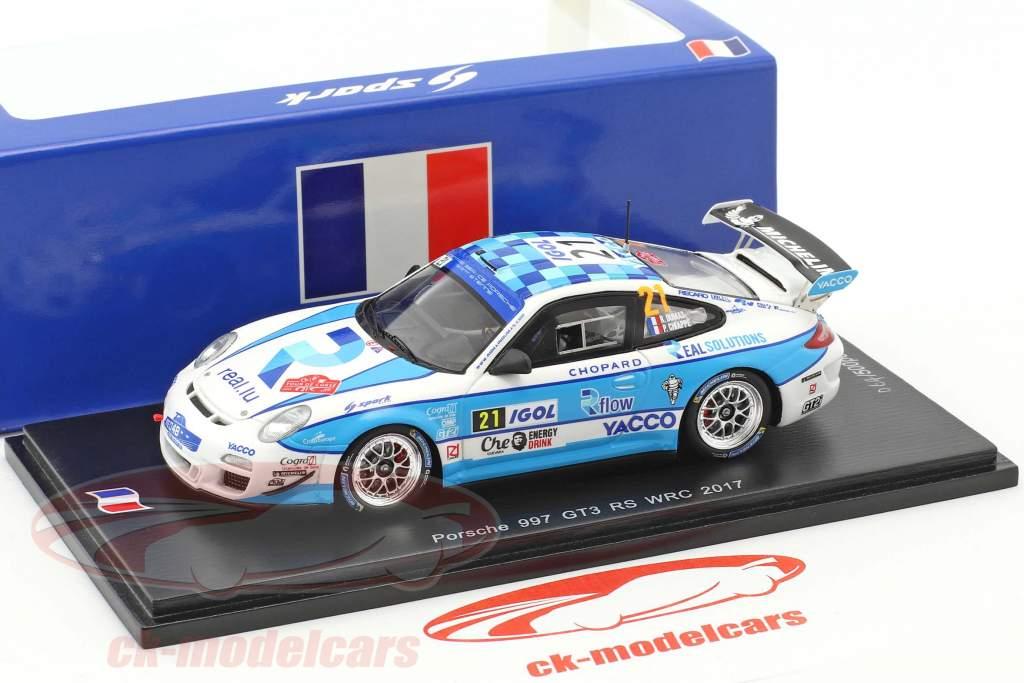 Porsche 997 GT3 RS #21 WRC 2017 Dumas, Chiappe 1:43 Spark