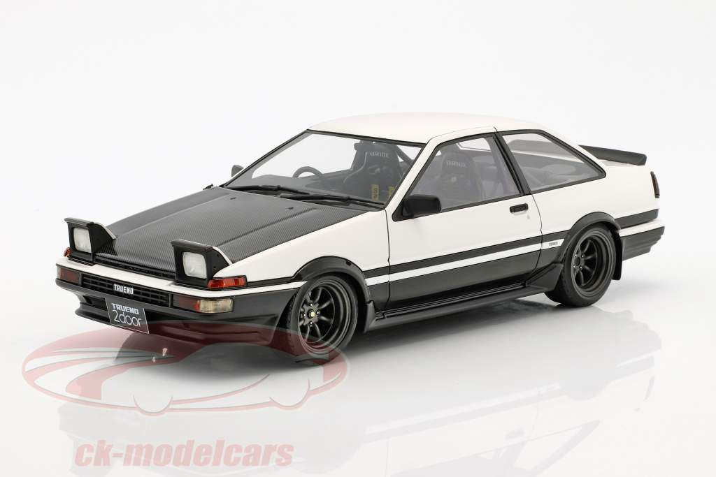 Toyota Sprinter Trueno (AE86) 2-Door GT Headlights up Apex weiß / schwarz 1:18 Ignition Model