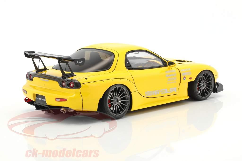 Mazda RX-7 (FD3S) RE Amemiya jaune 1:18 Ignition Model