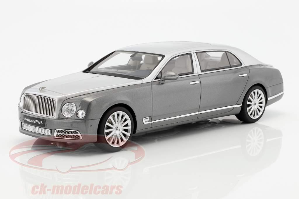 Bentley Mulsanne EWB year 2016 dark gray / silver 1:18 GT-Spirit