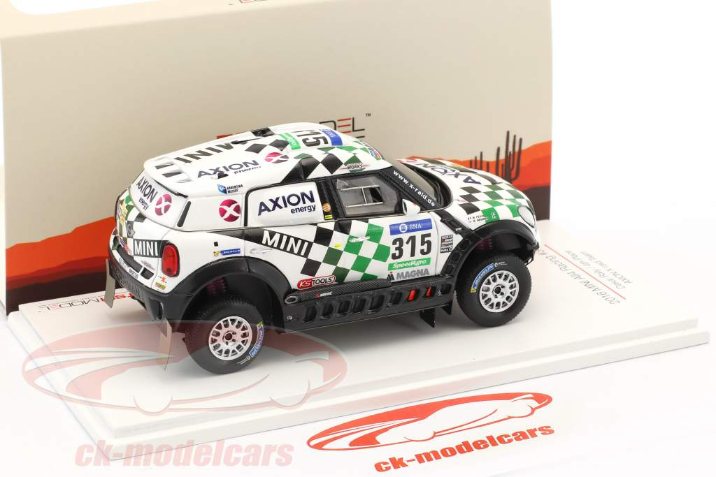 Mini All4 Racing #315 4 Rallye Dakar 2016 Hirvonen, Perin 1:43 True Scale