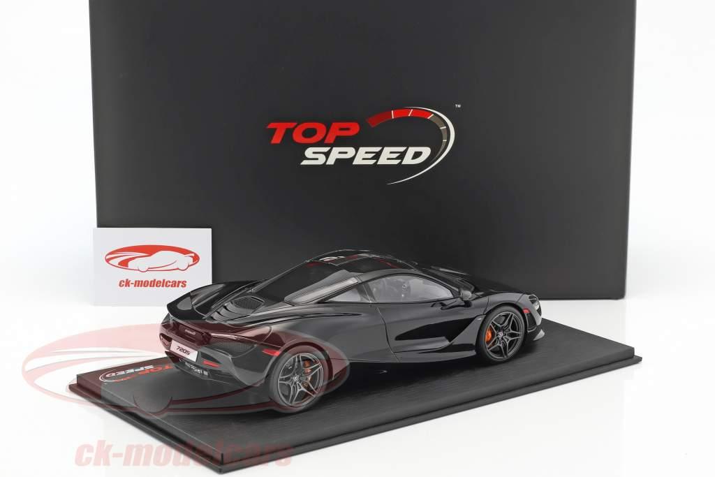 McLaren 720S anno di costruzione 2017 ametista nero 1:18 True Scale