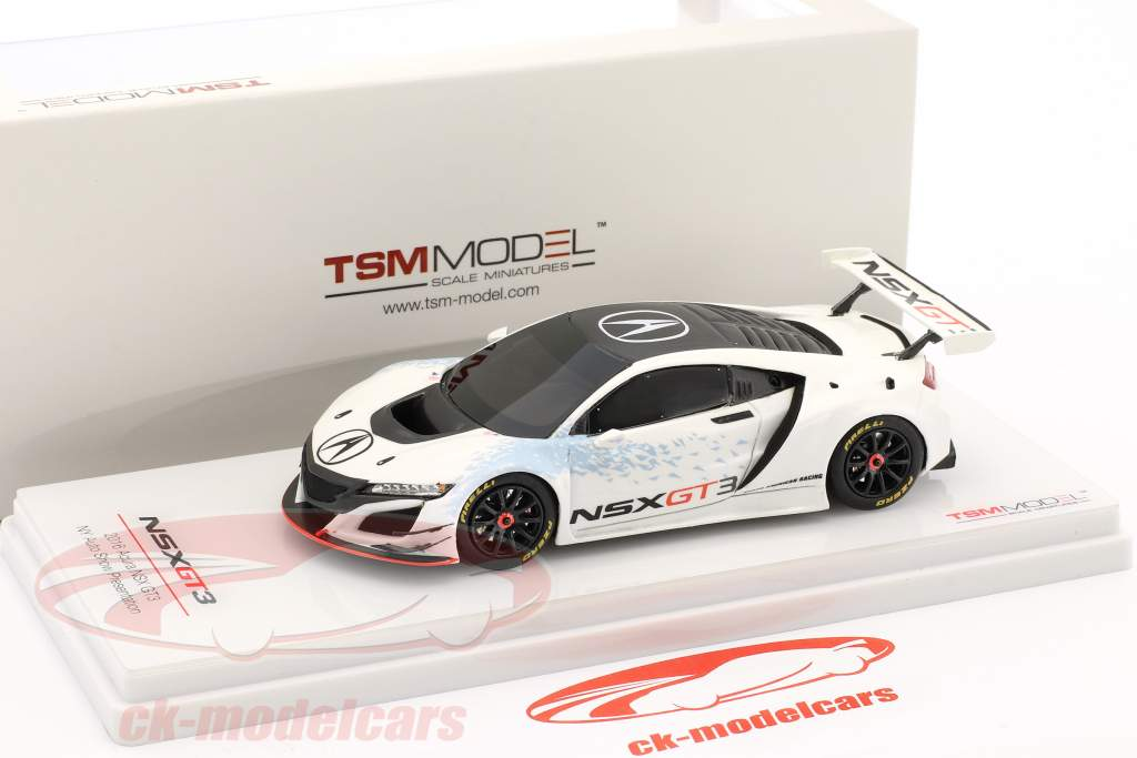 Acura NSX GT3 New York voiture spectacle 2016 blanc / noir 1:43 True Scale