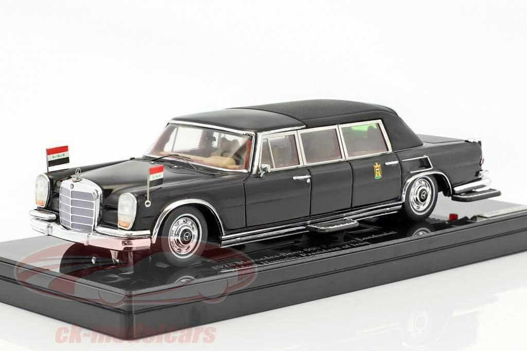 Mercedes-Benz 600 Pullmann Landaulet Saddam Hussein anno di costruzione 1978 nero 1:43 True Scale