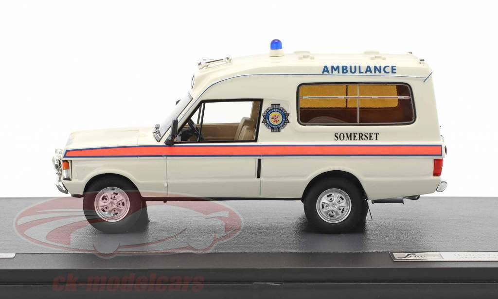 Land Rover Range Rover Herbert Lomas Somerset Ambulance Service anno di costruzione 1972 bianco 1:43 Matrix
