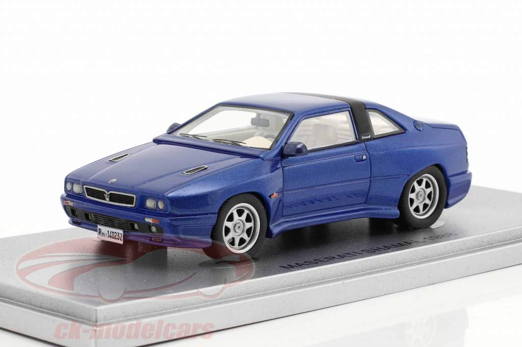 Maserati Shamal year 1988 blue metallic 1:43 KESS