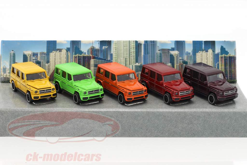 5-Car Set Mercedes-Benz AMG G63 color Edition Giftpack 1:64 Majorette