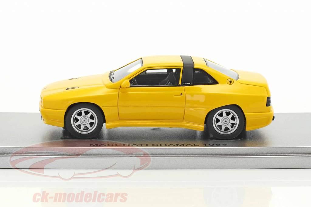 Maserati Shamal année de construction 1988 jaune 1:43 KESS