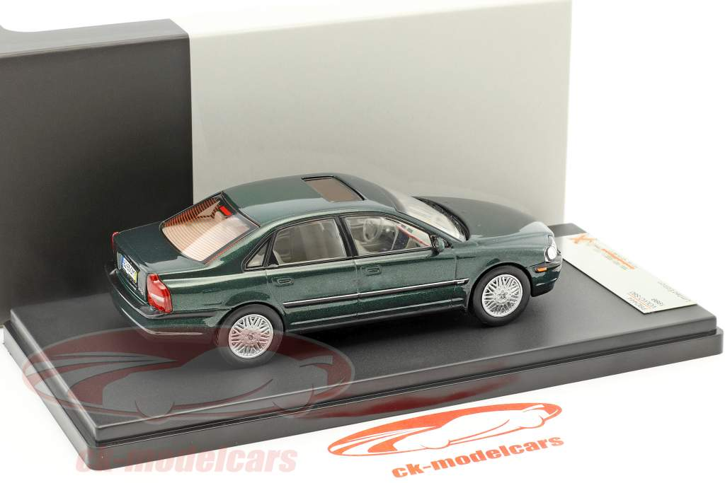 Volvo S80 year 1999 dark green metallic 1:43 Premium X