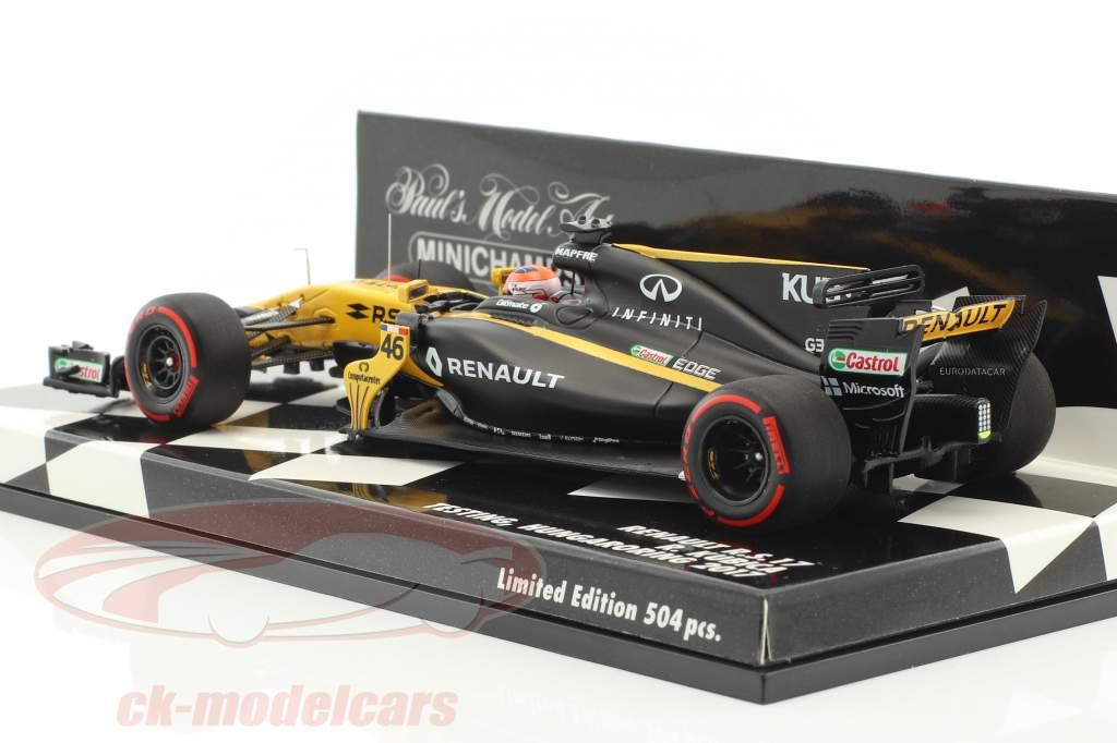 Robert Kubica Renault R.S.17 #46 analisi Hungaroring 2017 1:43 Minichamps