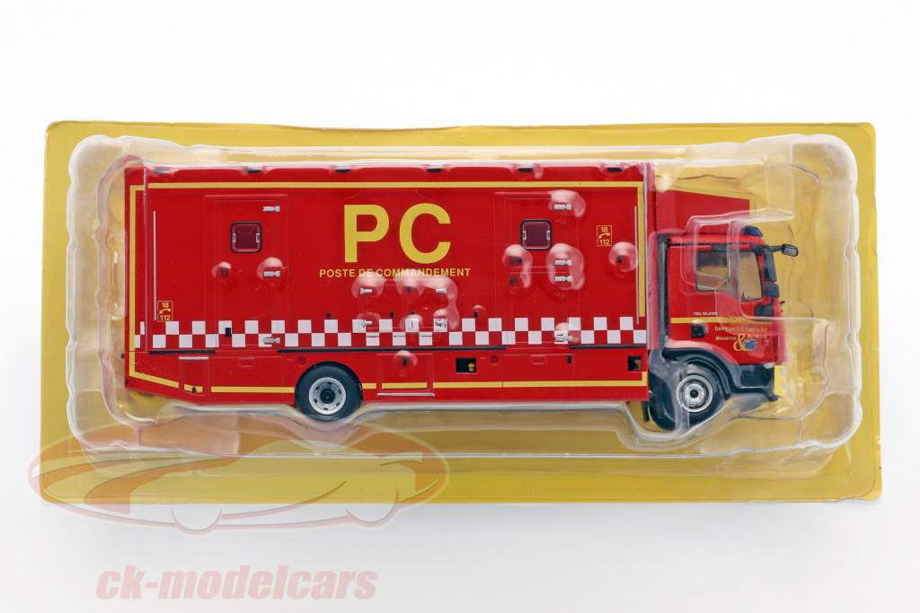 MAN TGL 12.250 Poste de Commandement fire Department red / white / yellow 1:43 Atlas