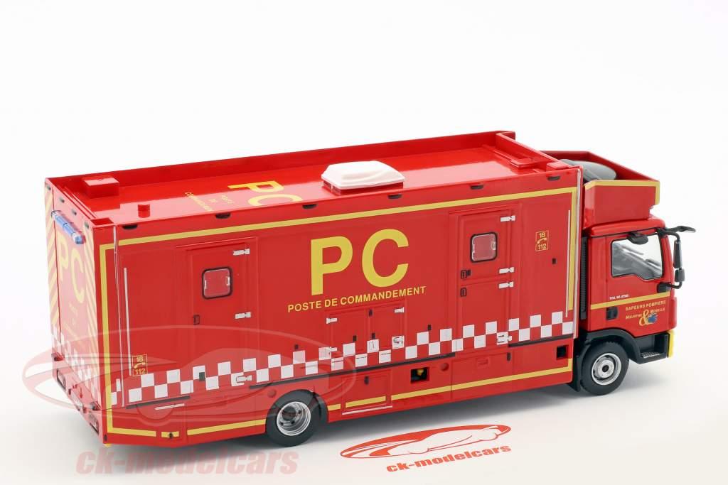 MAN TGL 12.250 Poste de Commandement fire Department red / white / yellow 1:43 Atlas