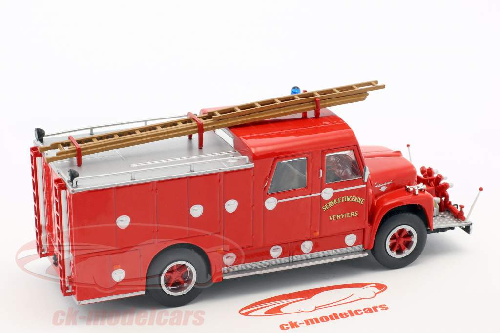 International Loadstar Wasterlain Verviers Feuerwehr rot 1:43 Atlas