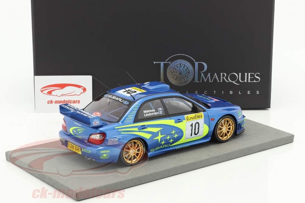 Subaru Impreza S7 #10 Winner Rallye Monte Carlo 2002 Mäkinen, Lindström 1:18 TopMarques