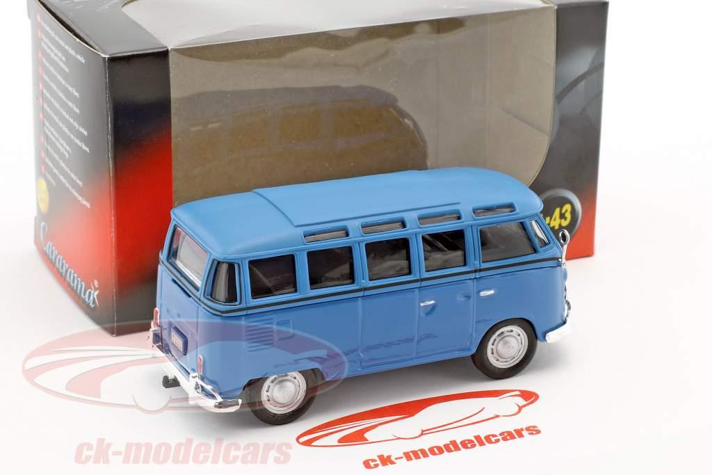 Volkswagen VW T1 Samba Bus bleu 1:43 Cararama