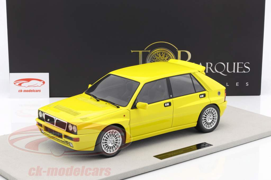 Lancia Delta Integrale Evolution année de construction 1987 jaune 1:12 TopMarques