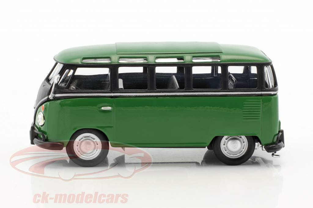 Volkswagen VW T1 Samba Bus green / black 1:43 Cararama