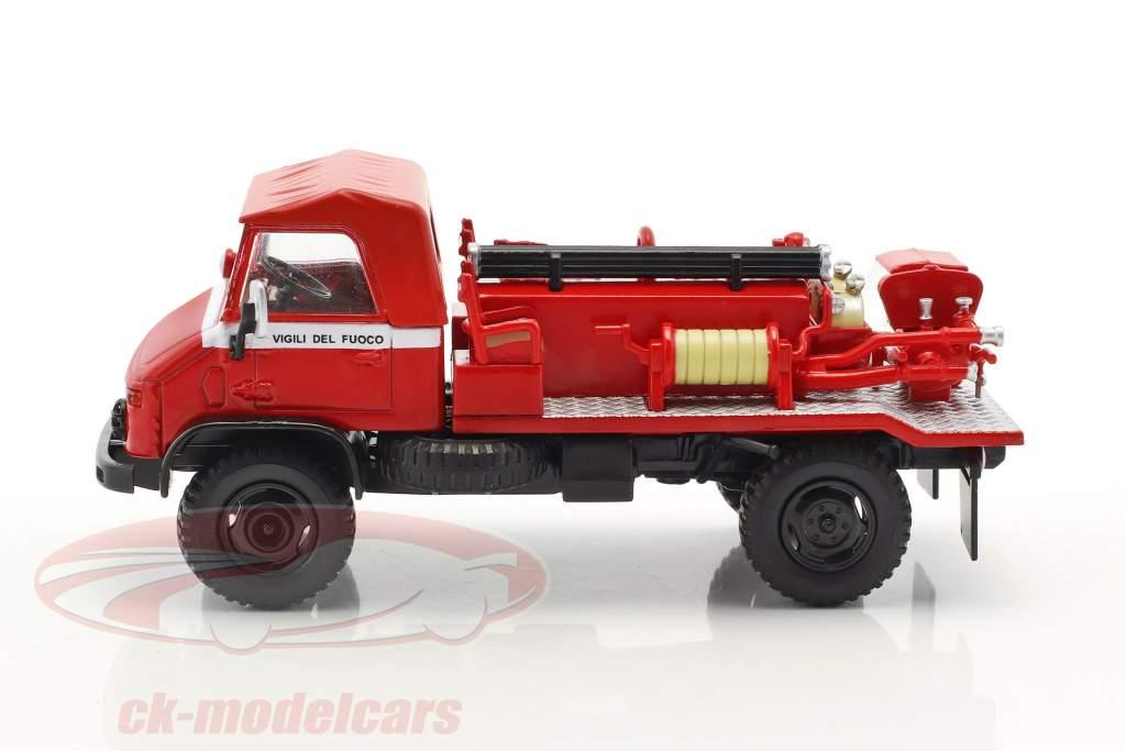 Mercedes-Benz Unimog 404 pompiers rouge 1:43 Atlas