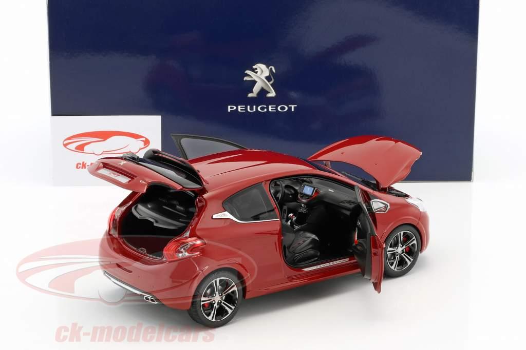 Peugeot 208 GTi anno di costruzione 2013 rubino rosso 1:18 Norev