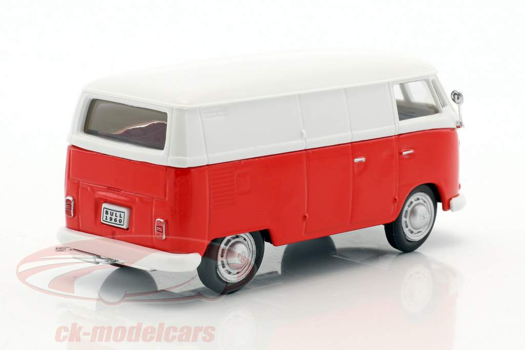 Volkswagen VW T1 van red / White 1:43 Cararama
