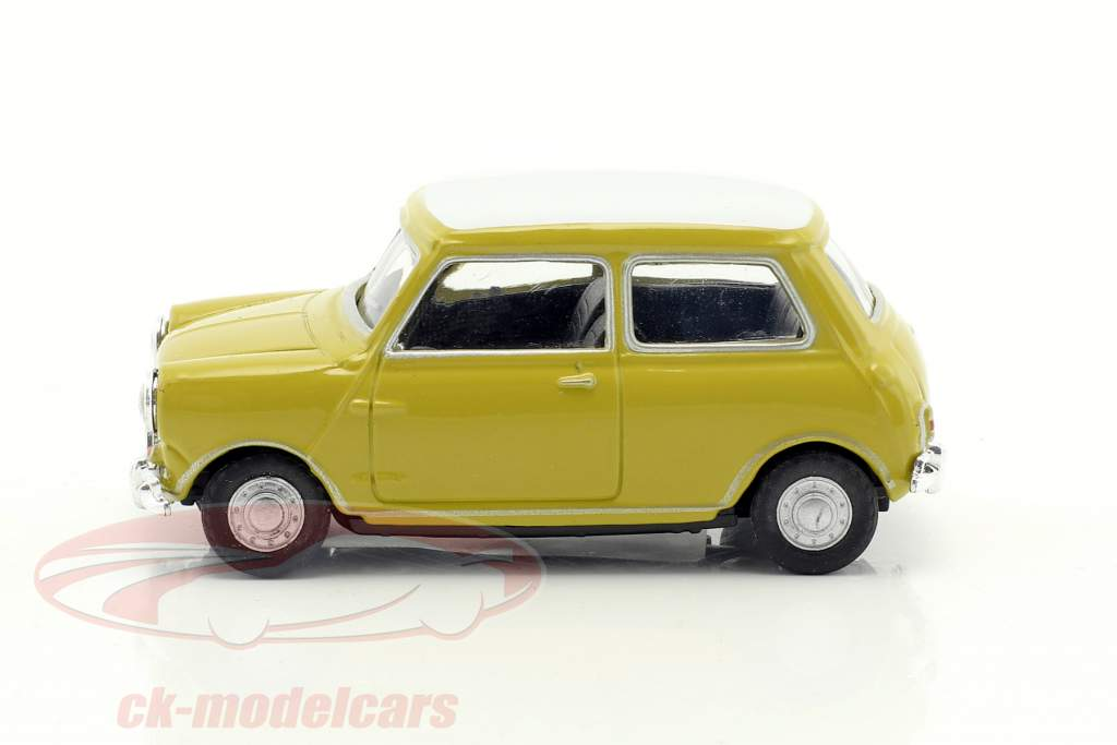 Mini Cooper year 1969 mustard yellow / white 1:43 Cararama