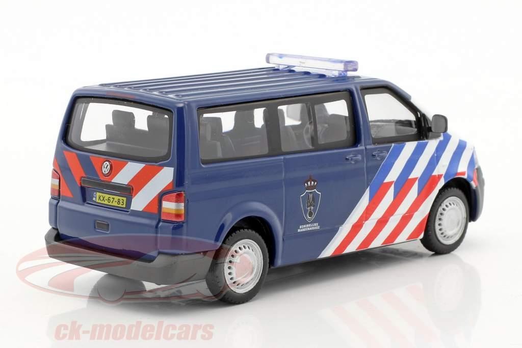 Volkswagen VW T5 Multivan Koninklijke Marechaussee blau / weiß / rot 1:43 Cararama