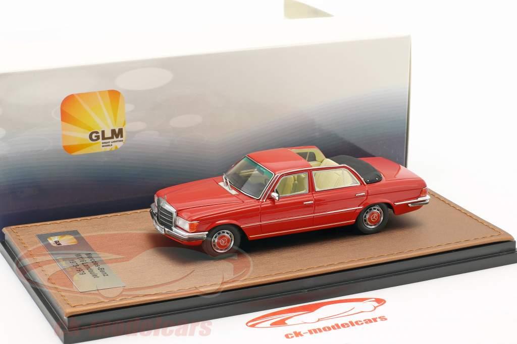 Mercedes-Benz 208 SEL W116 Landaulet anno di costruzione 1973-1979 rosso 1:43 GLM