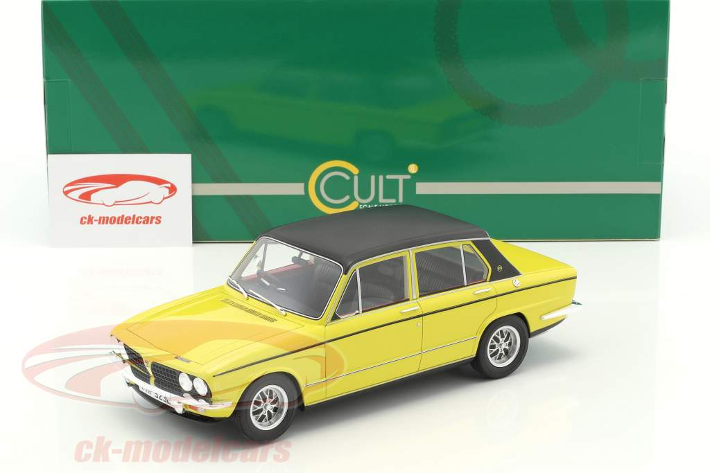 Triumph Dolomite Sprint year 1975 yellow / black 1:18 Cult Scale