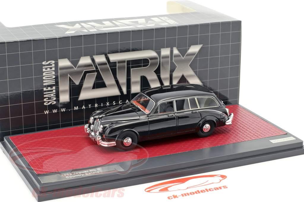 Jaguar MK II Country Estate année de construction 1963 noir 1:43 Matrix