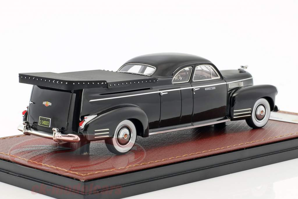 Cadillac Miller Meteor Flower Car year 1941 black 1:43 GLM