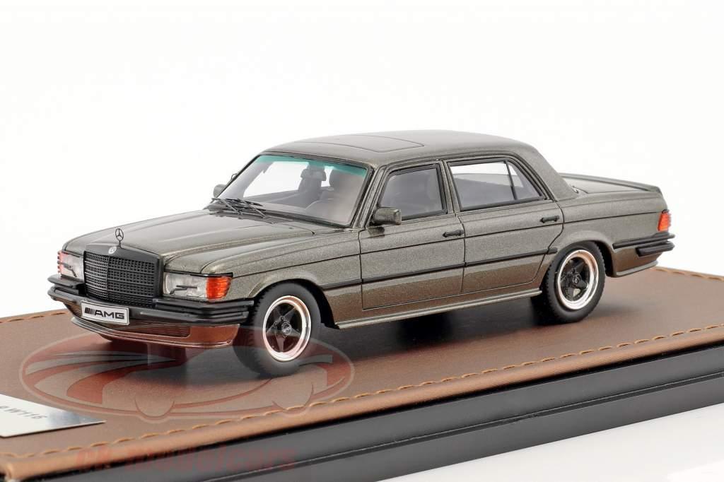 Mercedes-Benz AMG 450 SEL 6.9 W116 anno di costruzione 1978 grigio-marrone metallico 1:43 GLM