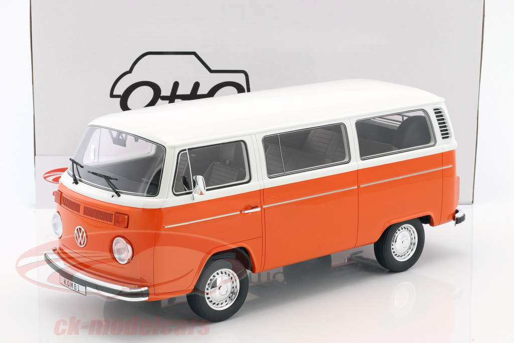 Volkswagen VW Kombi T2 Bus year 1978 orange / white 1:12 OttOmobile