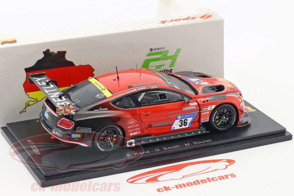 Bentley Continental GT3 #36 24h Nürburgring 2017 Bentley Team ABT 1:43 Spark