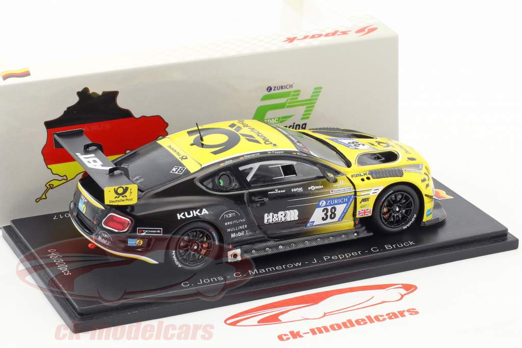 Bentley Continental GT3 #38 24h Nürburgring 2017 Bentley Team ABT 1:43 Spark