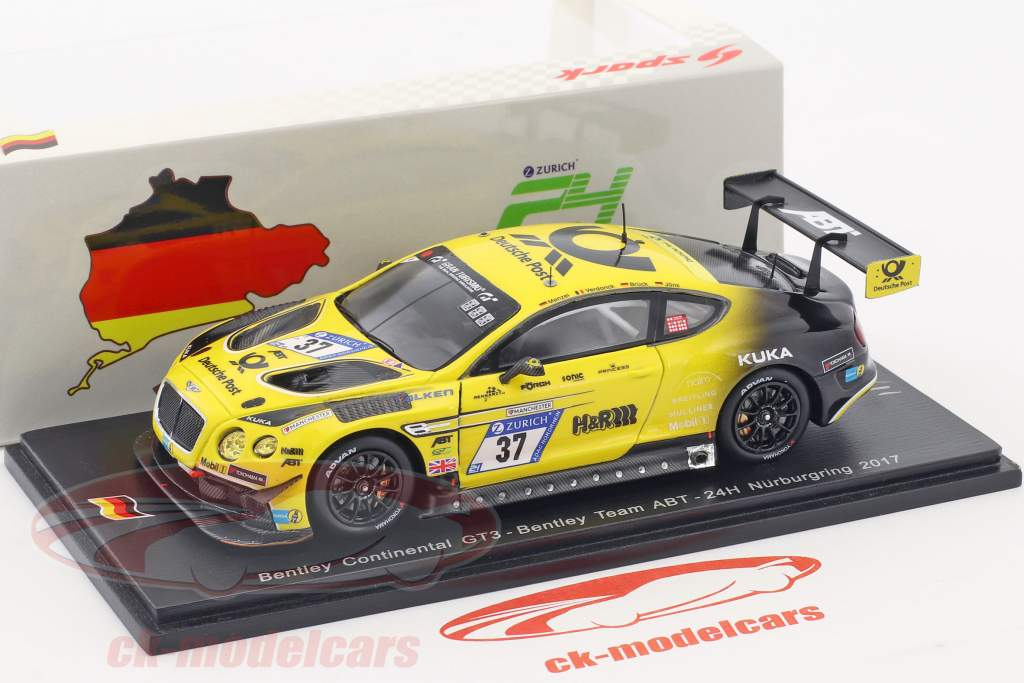 Bentley Continental GT3 #37 24h Nürburgring 2017 Bentley Team ABT 1:43 Spark