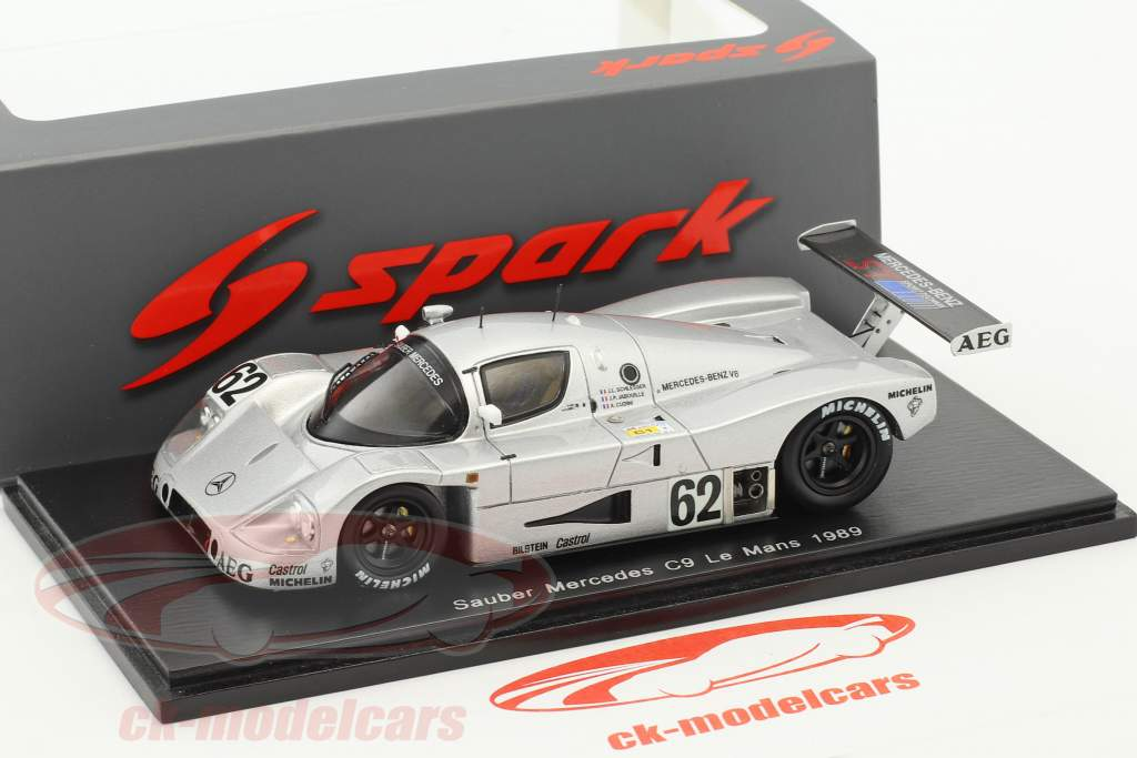 Sauber-Mercedes C9 #62 5th 24h LeMans 1989 Schlesser, Jabouille, Cudini 1:43 Spark